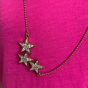 J. Crew Star Pave Studded Necklace EUC